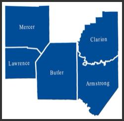 5 County Service area